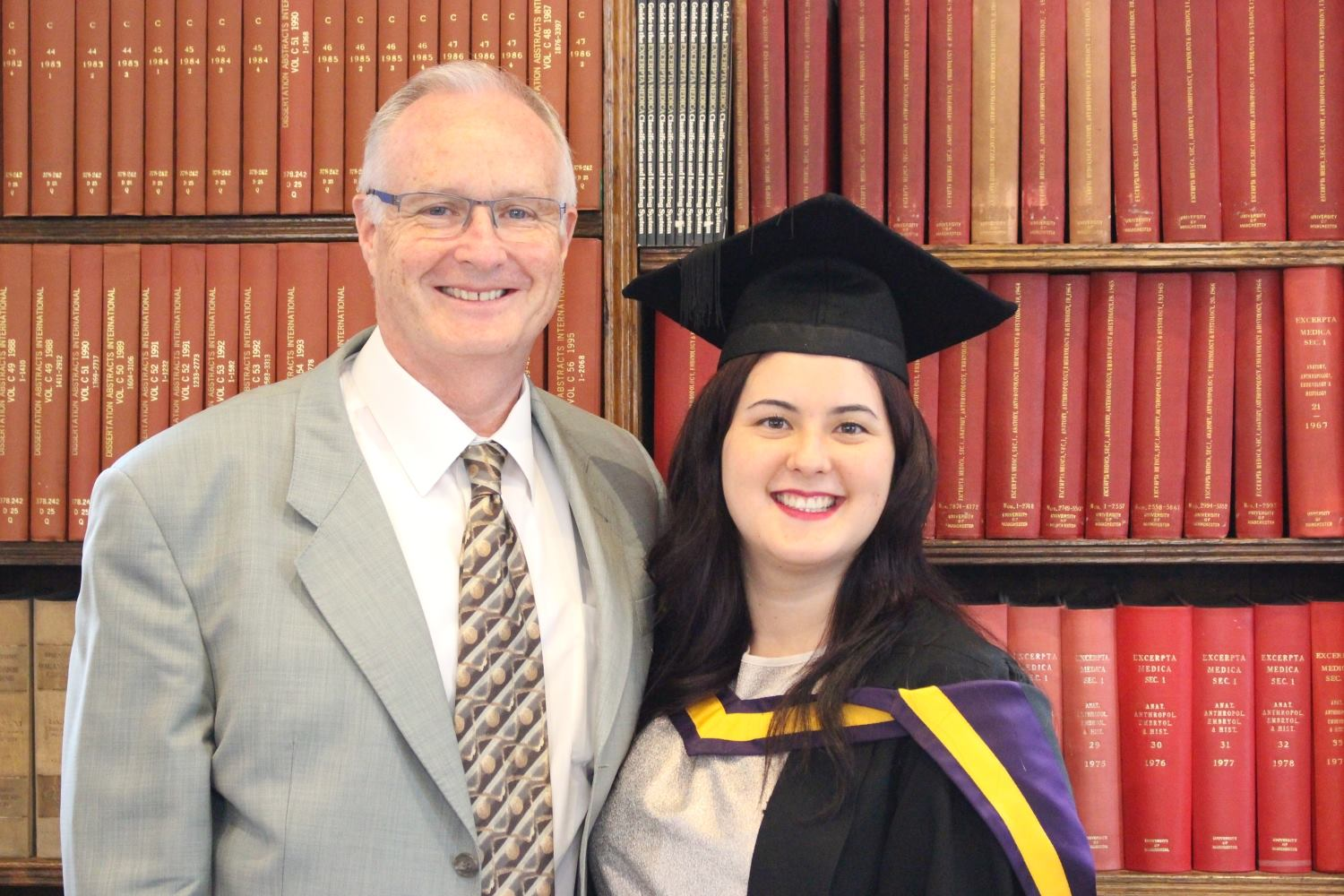 Ceri Jones - fully qualified independent financial advisor, with dad, Chris