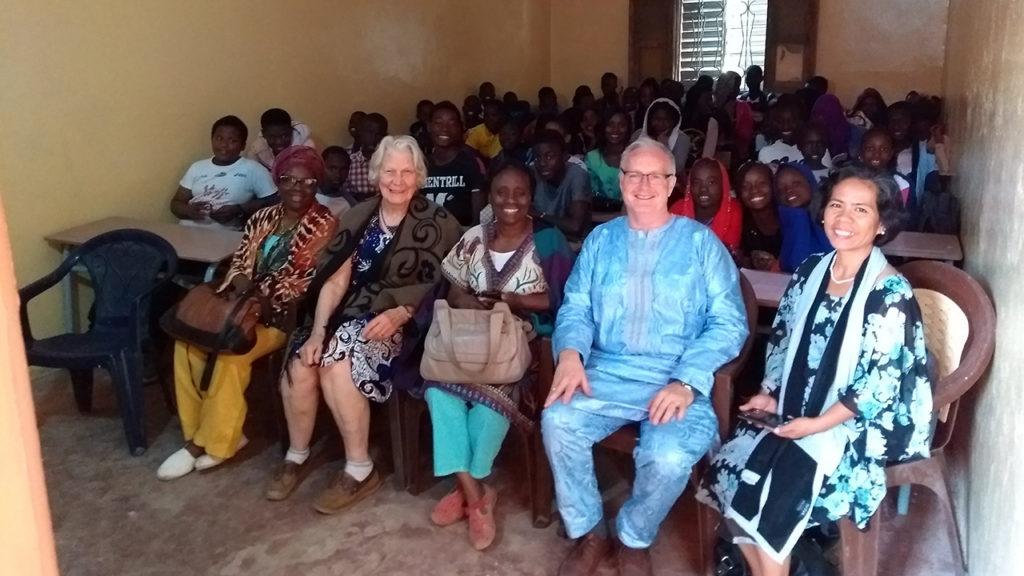 Chris Jones in Senegal at the Yonent Mame Ibrahima school